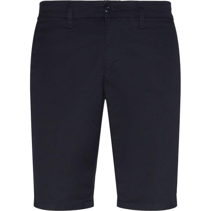 Shorts - Slim - Blå